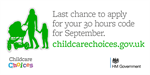Last chance to claim 30 hours extended childcare this September